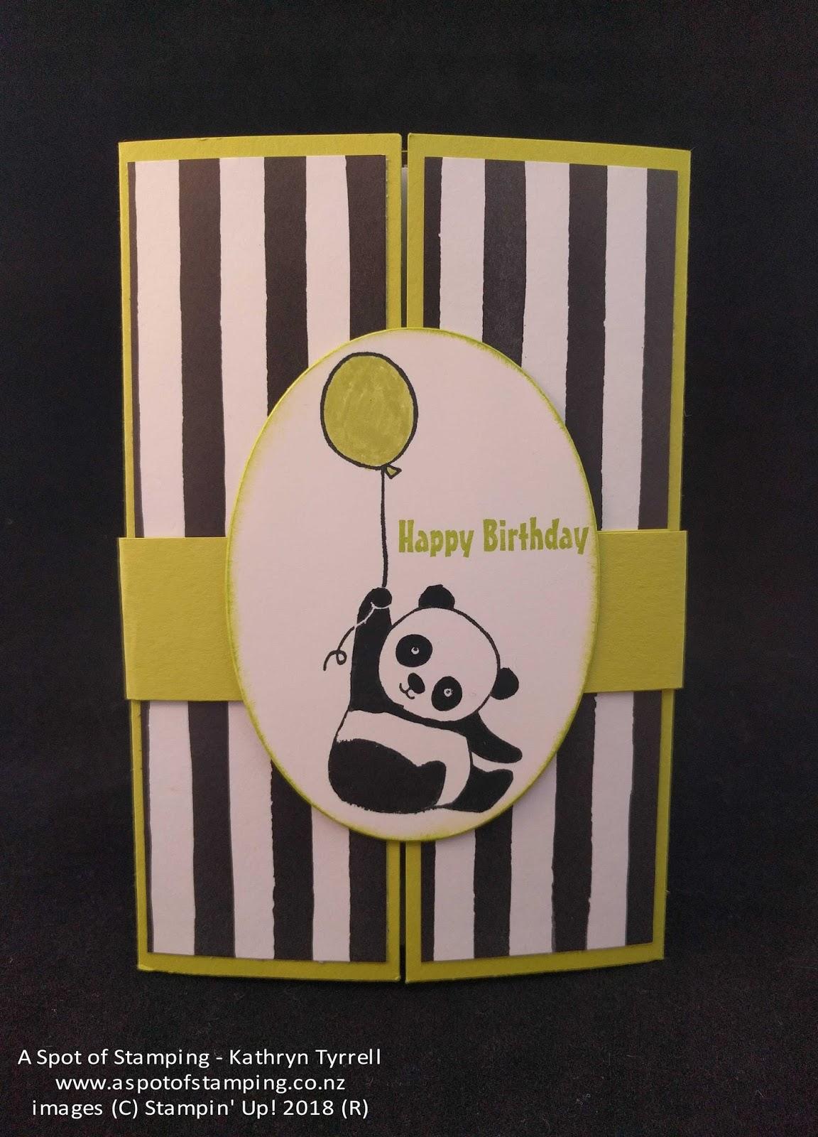 A Spot of Stamping: Party Pandas Gatefold Shutter Card
