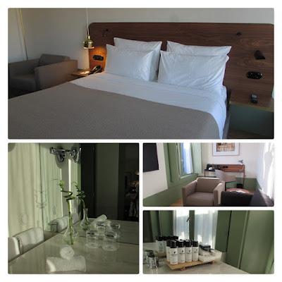 vários ambiente de um hotel no Porto