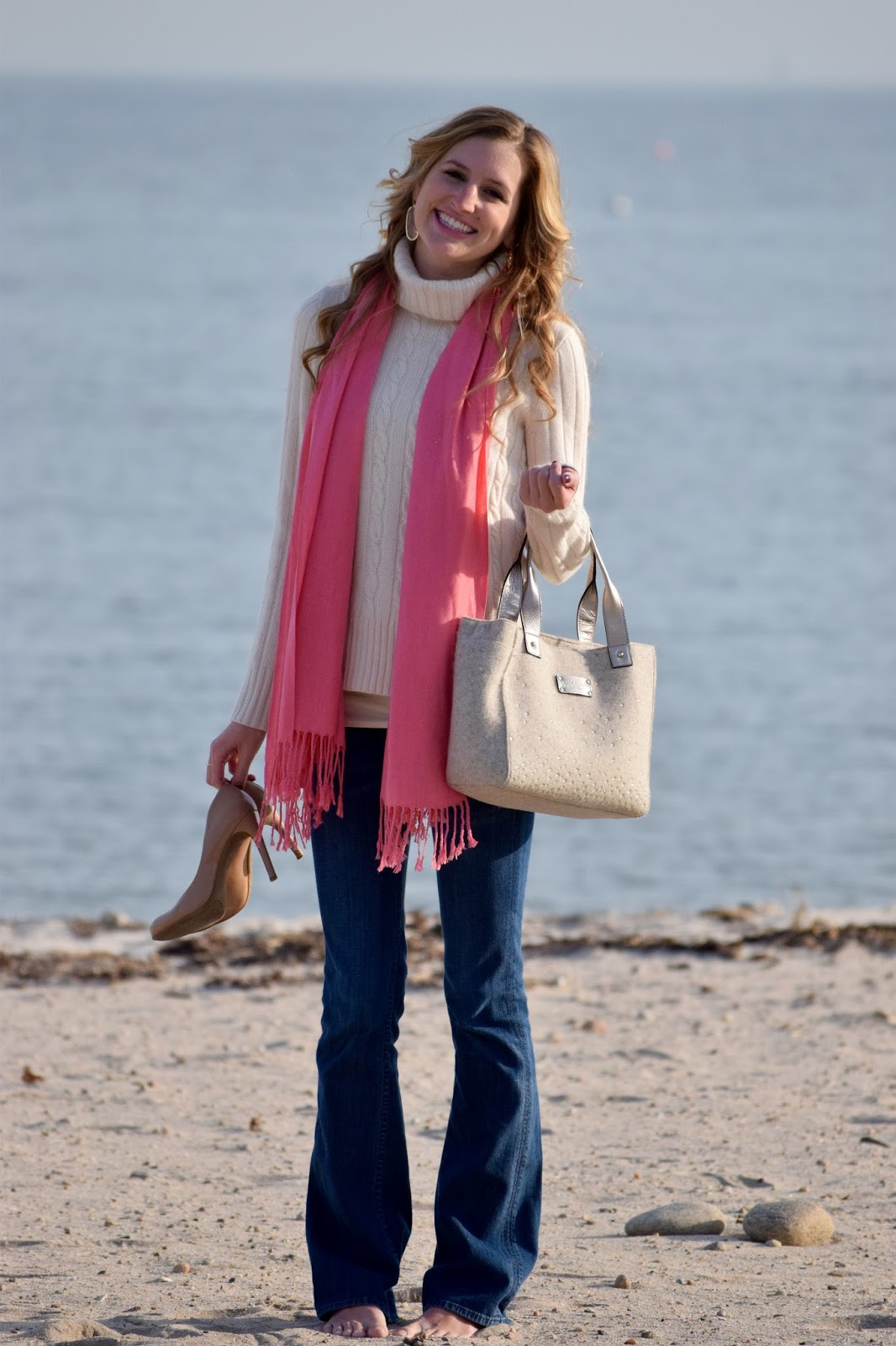 d6ce502901 What to wear to the beach during Winter ~ Roses and Rain Boots