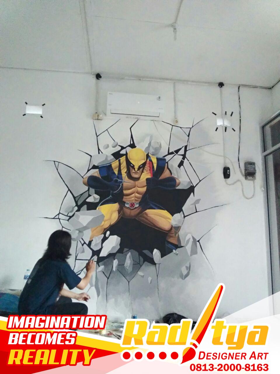 Lukisan Dinding 3d Simple Cikimm Com