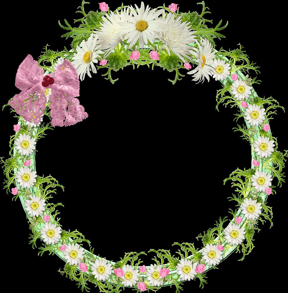 Emilieta Psp Marco Floral Circular En Png - Marcos Para Fotos ...