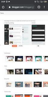 Mengganti template blogger dengan hp