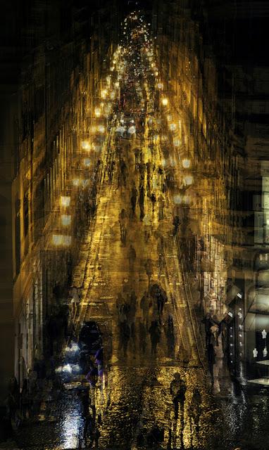 Esposizioni multiple di Roma di sera. Di Alessio Trerotoli