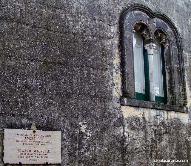 Casa onde viveram os escritores André Gide e Edward Foster em Ravello, Costa Amalfitana