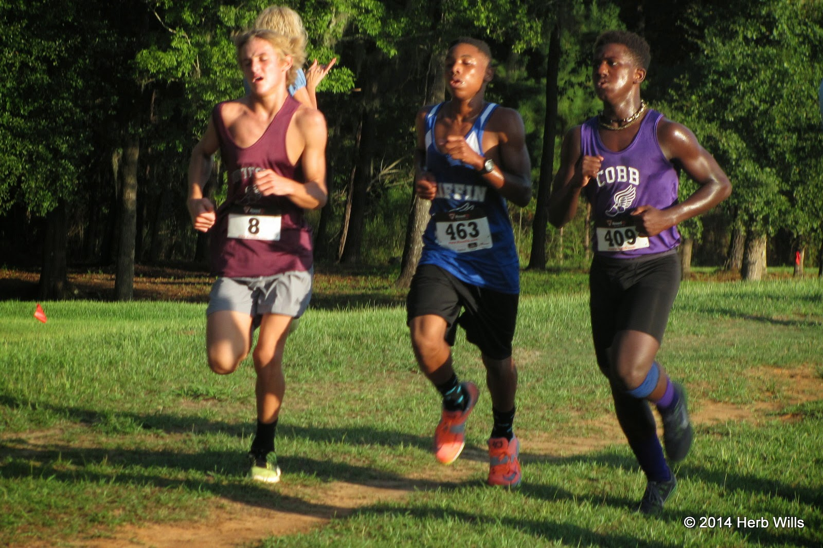 Leaders in the 2014 Mustang Stampede boys' race