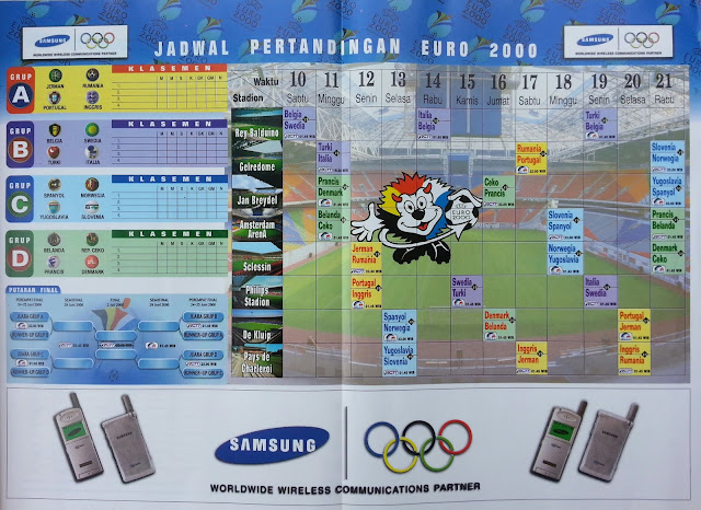 POSTER JADWAL PERTANDINGAN EURO 2000