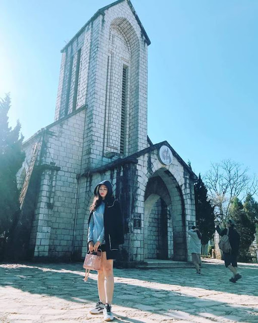 Stone church in Sapa.