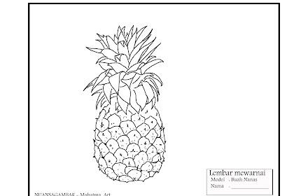 Lembar mewarnai buah untuk anak