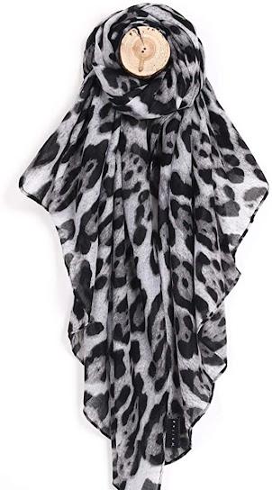 Good Quality Leopard Pattern Sheer Chiffon Scarf