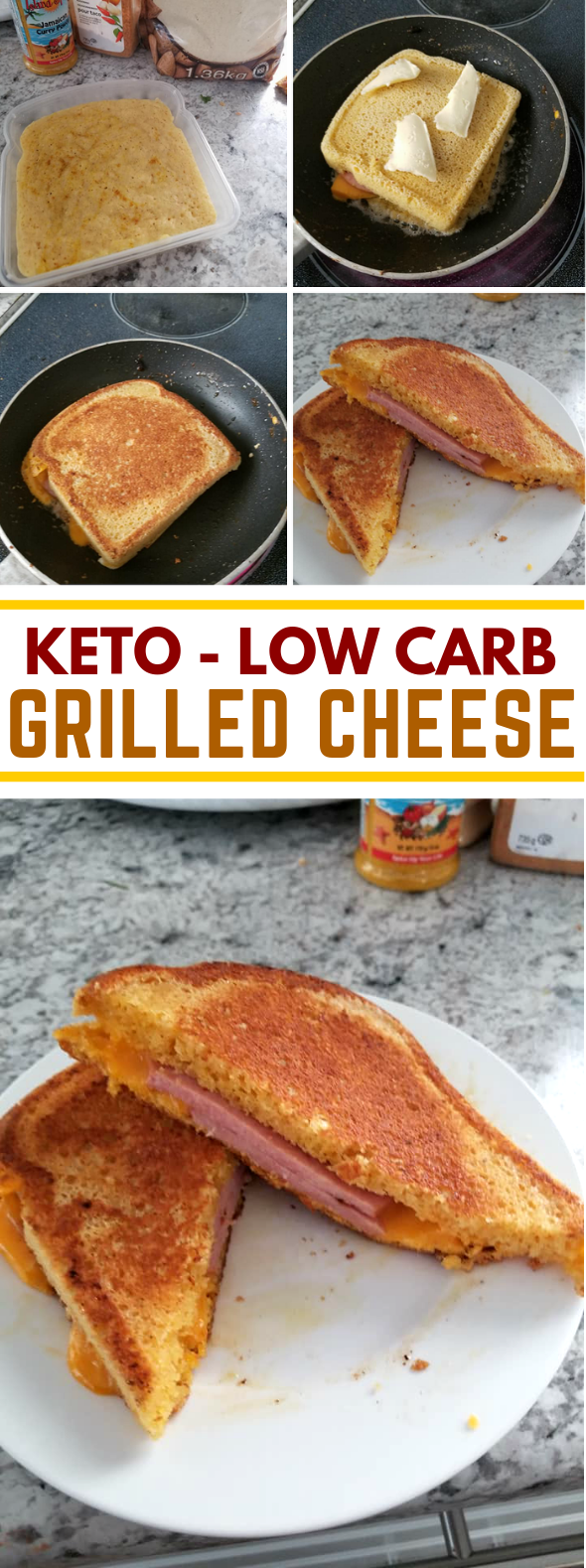 Keto Low Carb Grilled Cheese #ketodiet #lunch