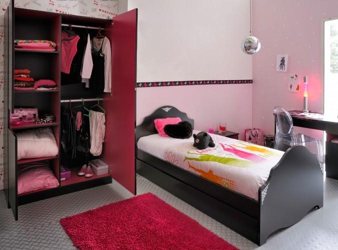 Dormitorios en rosa y negro para adolescentes colores en Habitaciones juveniles rosa