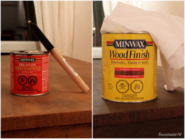 Minwax wood conditioner and stain
