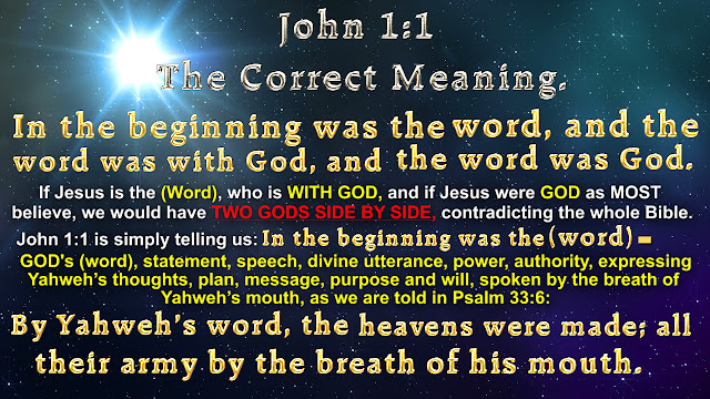 John 1:1 The Correct Meaning.