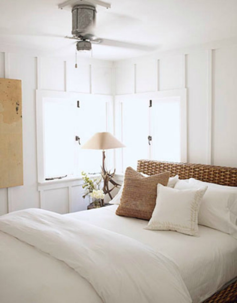 coastal white bedroom