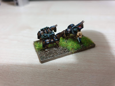 Pendraken Miniatures  NW11 Pack mule team with mountain gun picture 2