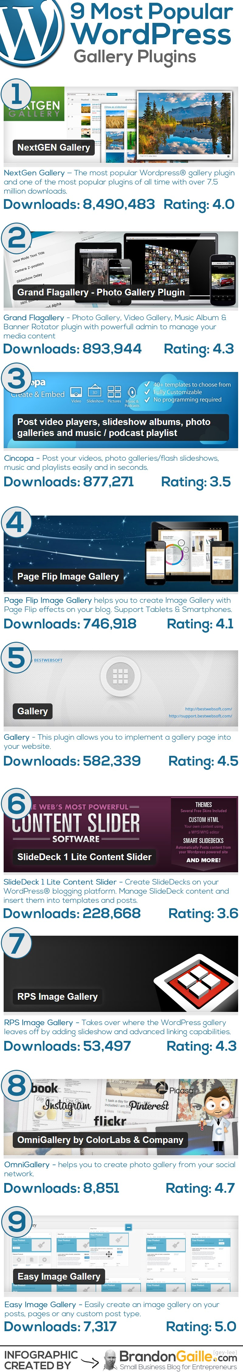 9-Most-Popular-WordPress-Gallery-Plugins #Infographic