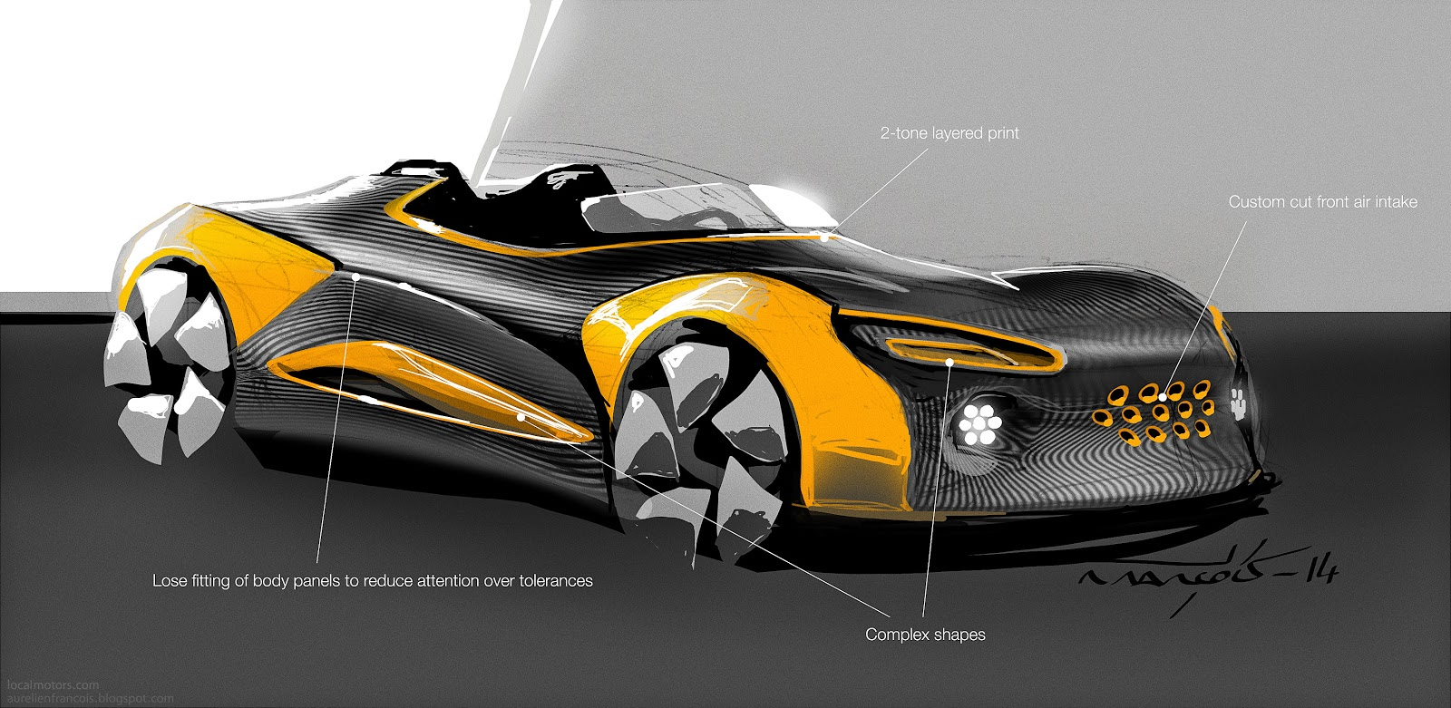 Designs by Aurel: 3D Printed Car?