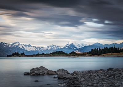 Mt Cook, Aoraki, Sunset, Clouds, Moody, Lake Pukaki