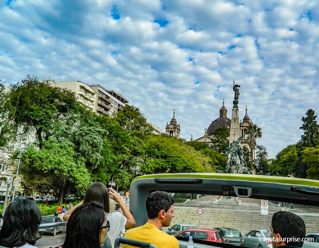 Monumento a Júlio de Castilhos, na Praça da Matriz de Porto Alegre