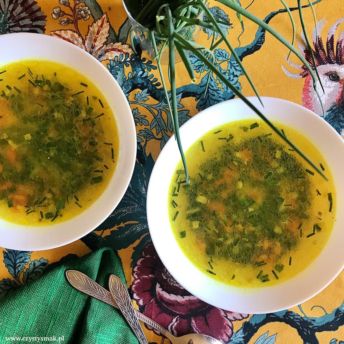 Zupa cytrynowa ze szczypiorkiem
