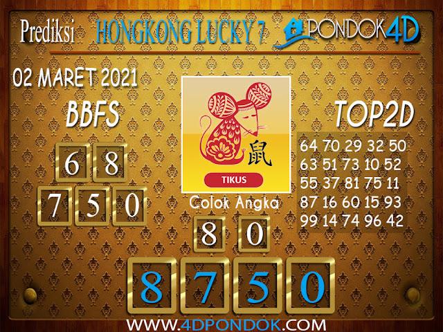 Prediksi Togel HONGKONG LUCKY7 PONDOK4D 02 APRIL 2021