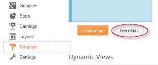 Blogger customize editor