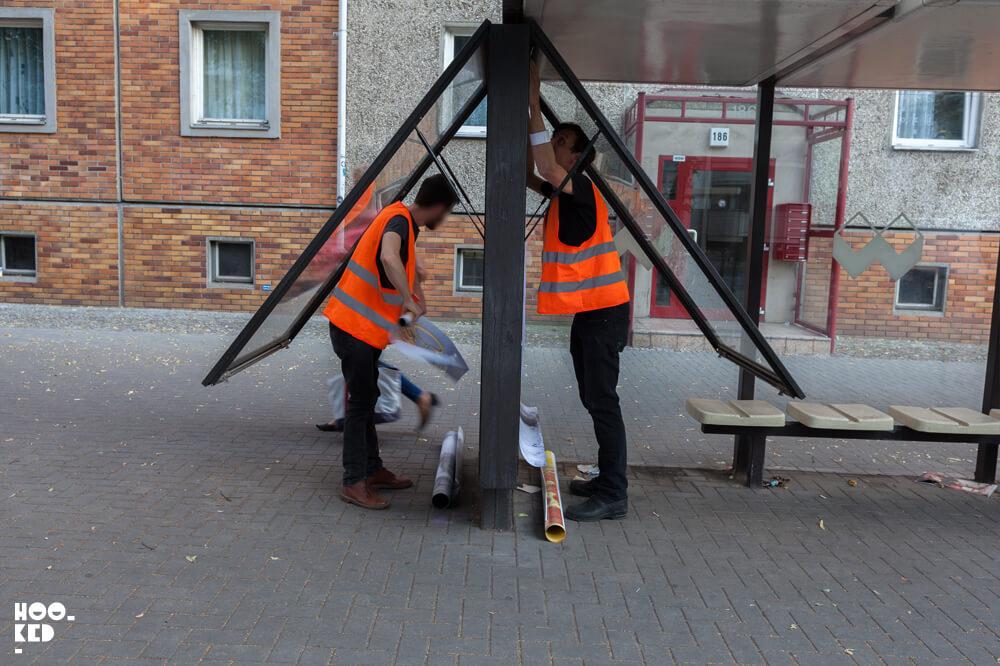 Berlin Street Art - Adbusting with artist Vermibus and Jordan Seiler