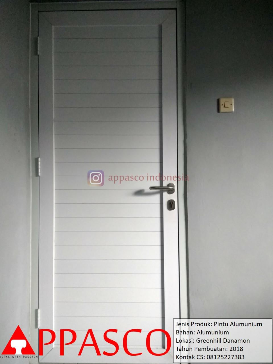Pintu Aluminium di Green Hill Danamon