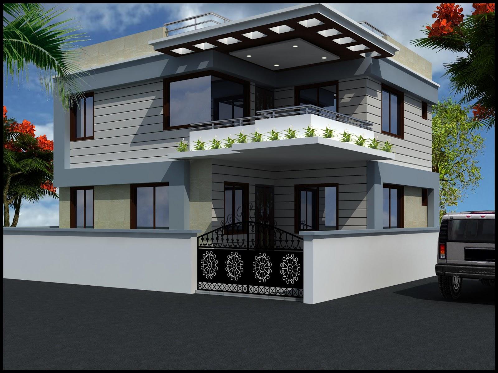Modern Beautiful Duplex House Design Home Design Elements