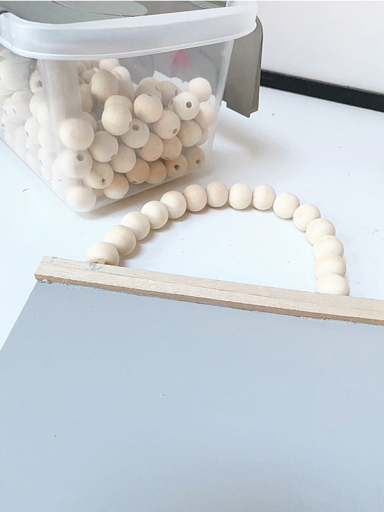 beads and a beaded hanger