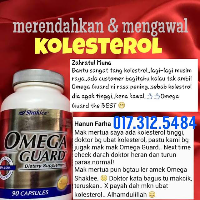 rendahkan paras kolesterol tinggi