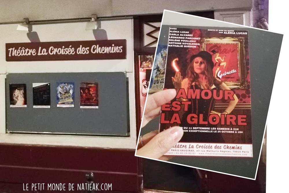 L'amour est la gloire théâtre contemporain