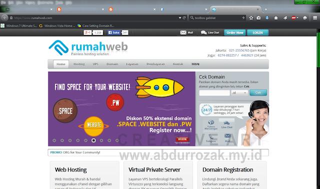 [Hosting] Cek dan Daftar Domain di Rumah Web Lengkap