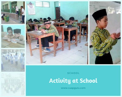 Activity at School - Part 2 Sentences about school and what students do at school