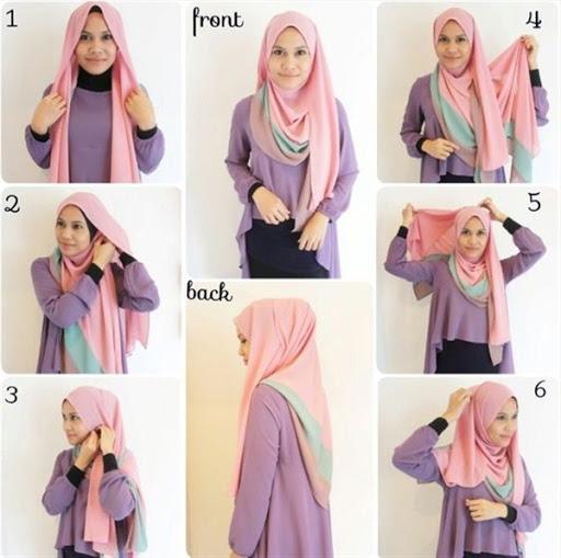 tutorial hijab segi empat simple buat sehari hari terbaru