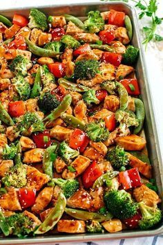 SHEET PAN SESAME CHICKEN AND VEGGIES #recipes #dinnerrecipes #quickdinnerrecipes #food #foodporn #healthy #yummy #instafood #foodie #delicious #dinner #breakfast #dessert #lunch #vegan #cake #eatclean #homemade #diet #healthyfood #cleaneating #foodstagram