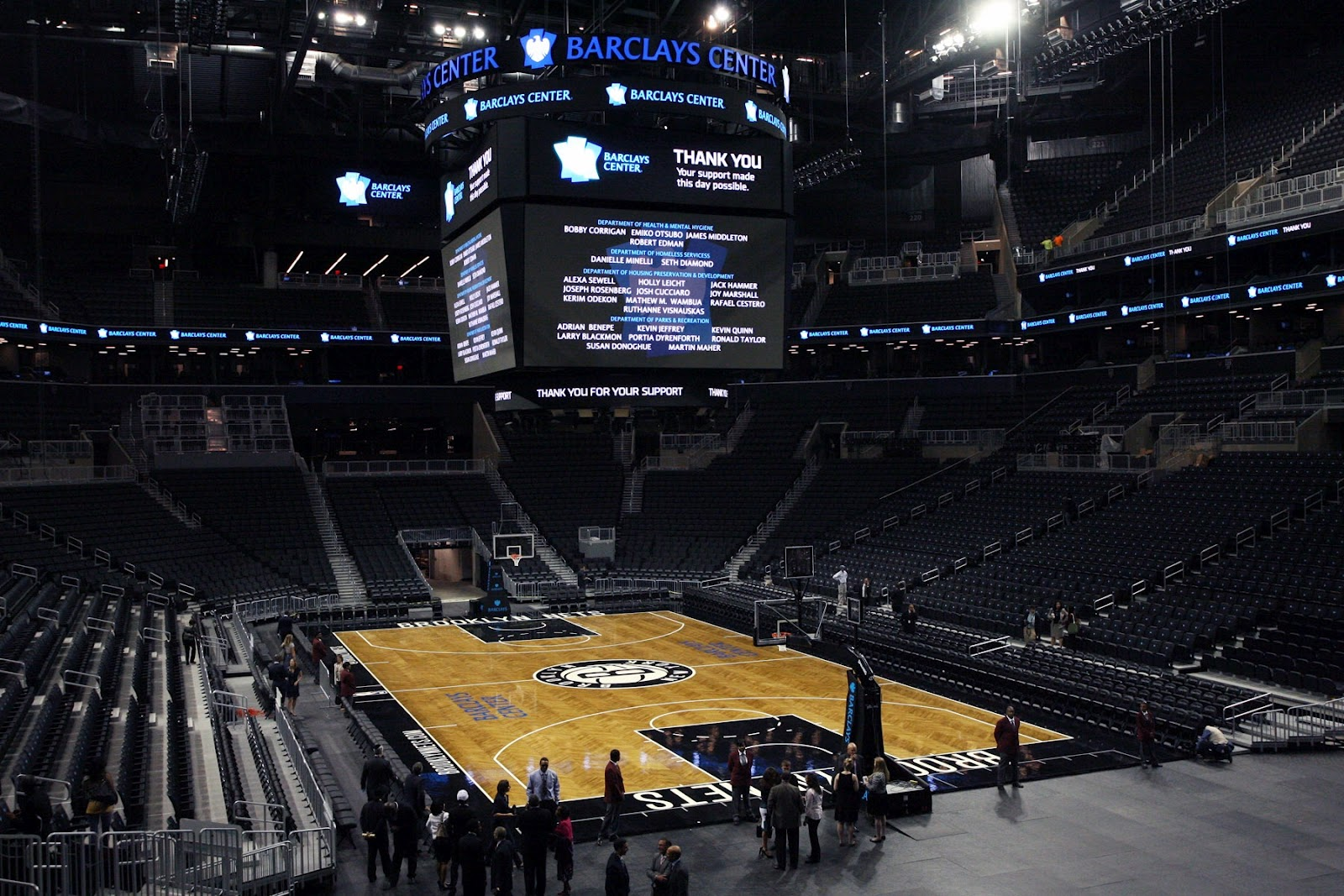 The barclays center ribbon cutting big win for ratner as for The barclay