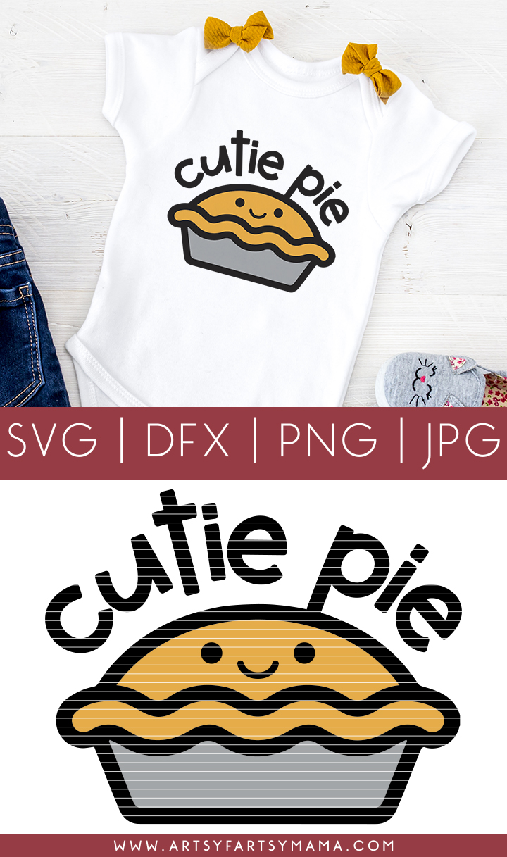 Thanksgiving Cutie Pie Shirt with Cut File