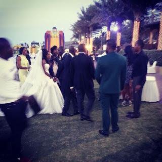 2face idibia white wedding dubai photos