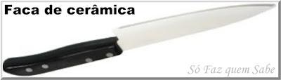Foto de uma Faca de Cerâmica que em inglês é chamada de Ceramic Knife