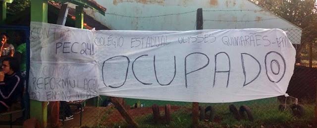 Roncador: Colégio Ulysses Guimarães também foi ocupado