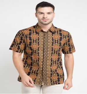 model baju batik pria 2 warna