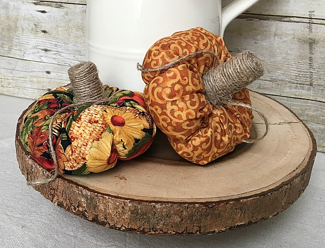 Vintage, Paint and more... adding twine wrapped wine corks as stems to little pumpkins
