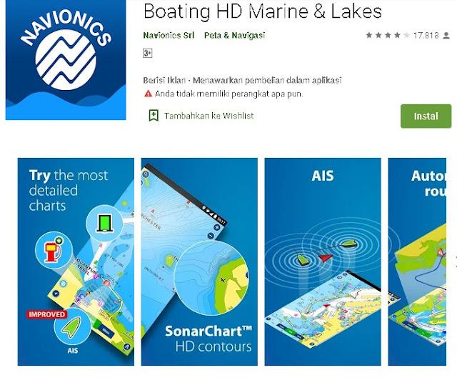 Boating HD marine And lake - Aflikasi Peta Laut Offline Untuk Android