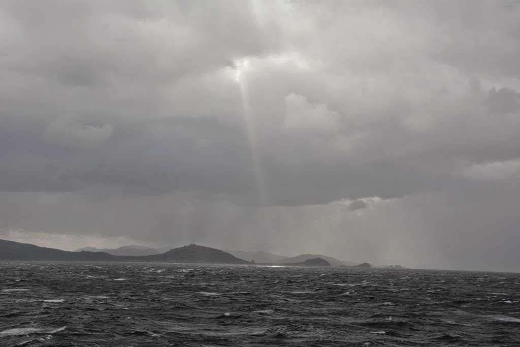 Cruising Cape Horn sun light