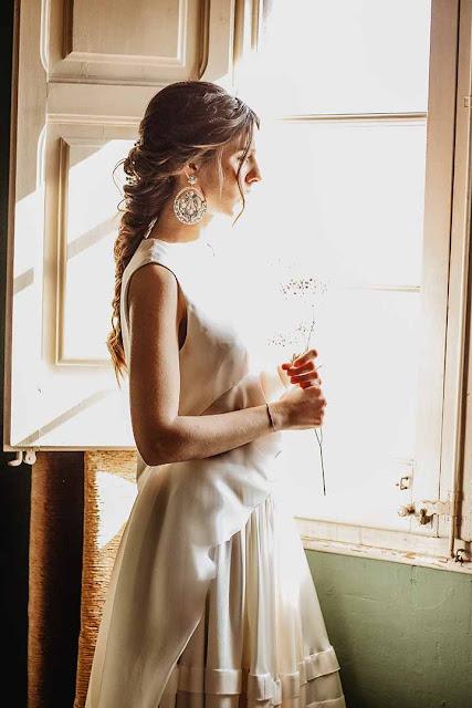 peinados de novia con trenzas 2020