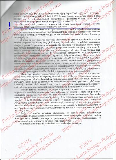 Karta Pobytu, Odwołanie, Decyzja, Przekierowanie Do I Instacji s.5