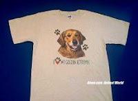 golden retriever lover dog t shirt