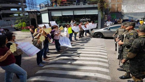 Periodistas independientes protestan ante represión en Honduras