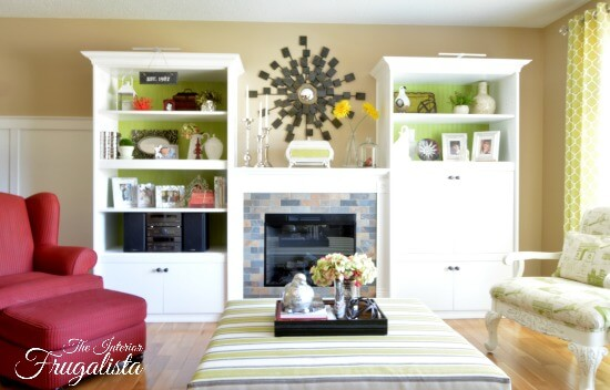 Lime green living room accents